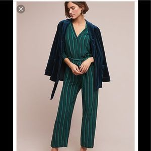 Anthropologie Selected Femme Fina Striped Jumpsuit